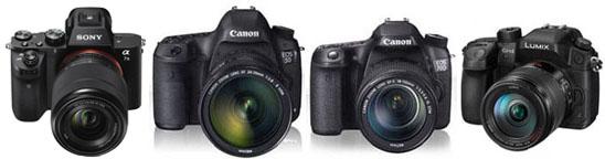 Sony A7S II, Canon 5D markIII, Canon 70D, Panasonic GH4.