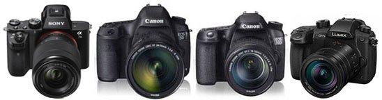 Canon 5D mark IV, Sony A7S II, Canon 70D, Panasonic GH5