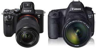 Sony A7S mark II et Canon 5D mark III