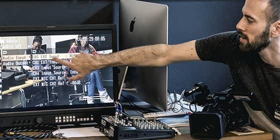 Formation prise de vues, réglages audio