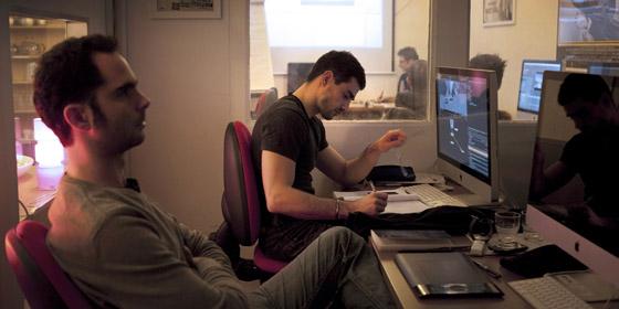 Formation Nuke - novembre 2011 - Matthieu Floury & Florian Velasco - formateur Olivier Lukaszczyk - Video Design Formation, Paris.