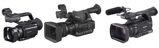 Sony XDCam X70 et X200, Panasonic HPX 250
