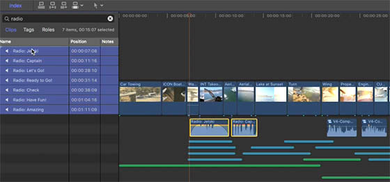 Pistes audio dans Final Cut Pro X