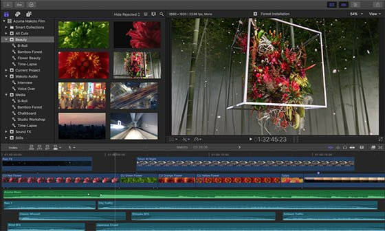 interface Final Cut Pro X
