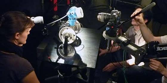 Reflex Canon 5D appareillé sur notre grue