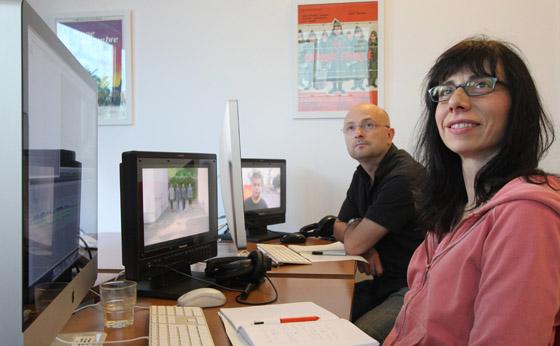 Une station Full HD avec monitoring vidéo HD pour chaque stagiaire. Formation FCP perfectionnement HD & Finishing, juin 2012 - Gordana Othnin-Girard & Ludovic Castet - formateur Vincent Coste. Video Design Formation, Paris.