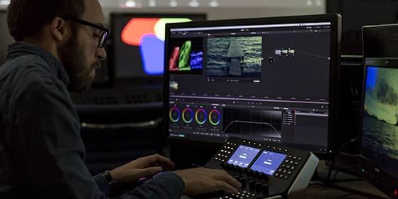 Pupitre Davinci resolve retour video FSI 10 bits