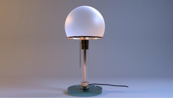 Modélisation d'un objet complexe : Une lampe Wagenfeld