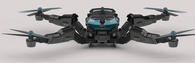 drone réalisé avec ZBrush