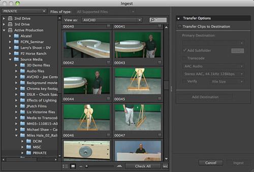Adobe Prelude permet d'importer et préparer des rushes