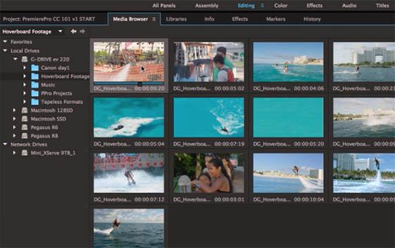 Chutier Adobe Premiere Pro CC