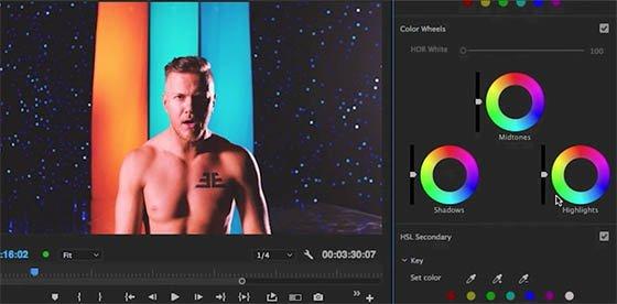 Adobe Premiere Pro CC intègre des outils de contrôle et de correction couleur Lumetri.