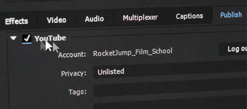 Adobe Premiere Pro CC Exportation