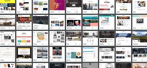 Des milliers de thèmes sont disponibles, gratuits ou payants, pour démarrer un site web rapidement, personnalisable sur mesure...