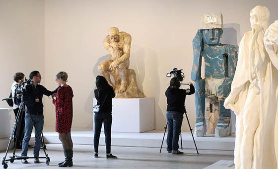 Tournage sur exposition Rodin au Grand Palais, 2017.