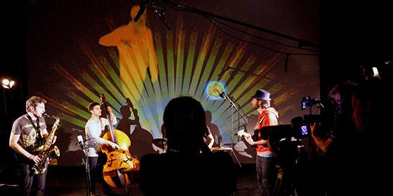 Tournage multicam d'un clip de jazz du quartet Rémy Gauche
