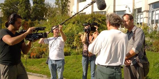 Tournage deux caméras avec prise de son à la perche