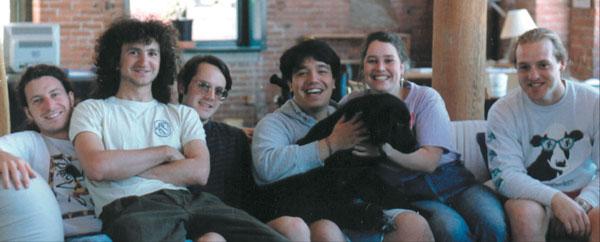 Les développeurs d'After Effects en 1991 : David Herbstman, David Simons, David Foster, Greg deocampo, Sarah Lindsley, Josh Hendrix