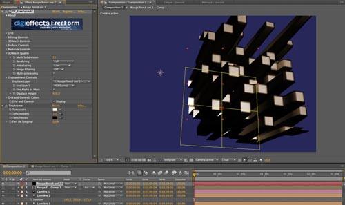 A partir de la version CS 5, After Effects accueille le plug in Freeform, pour du warping de haut niveau...