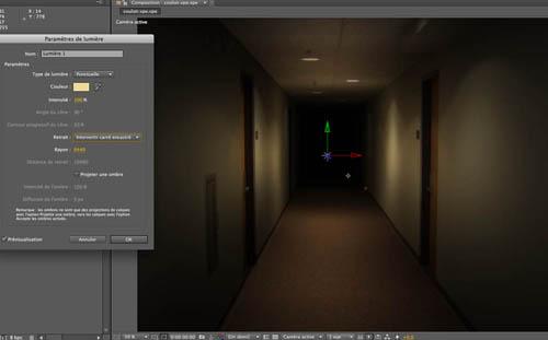 A partir de la version CS 5.5, After Effects améliore considérablement la qualité des lumières 3D, avec la prise en compte de la distance source-cible.
