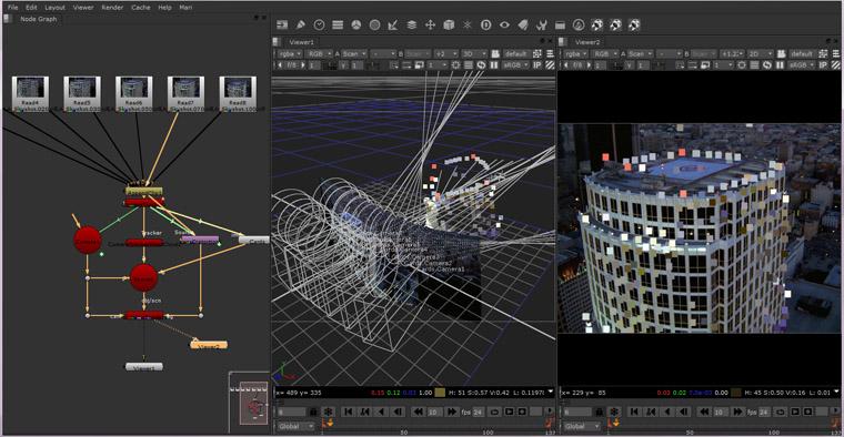 ...le nouveau module de track 3D de Nuke 8 avec son mode still pour la reconstruction de géometrie à partir de photos