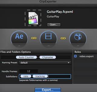 Final Cut Pro X et Clip Exporter