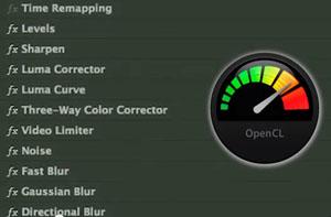 De nombreux effets Premiere Pro sont OpenCL et optimisés à la double carte graphique du Mac Pro nouveau