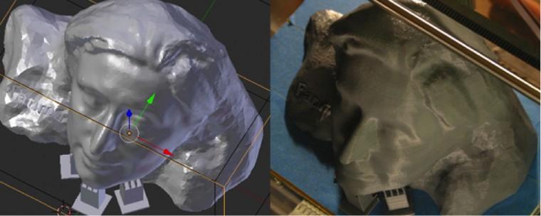 Modèle conçu avec Blender & Impression 3D du modèle