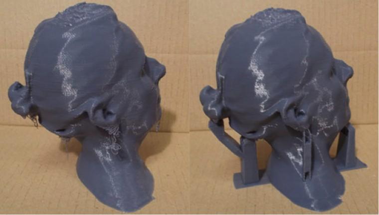 Impression 3D sans supports, le filament se dépose dans le vide - Supports réalisés avec Blender facilement détachable pour la finition