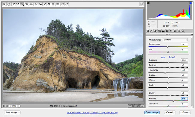 Camera Raw, plug in gratuit de développement de fichiers photo Raw pour Photoshop