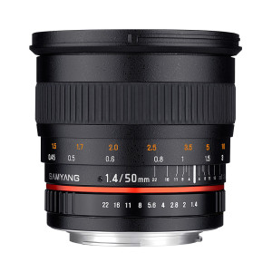Le 50mm Samyang, disponible en version VSLR, à diaph non cranté