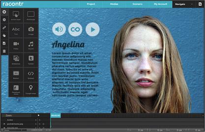 Racontr est une puissante application online pour créer des webdocs html5.