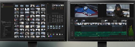 Resolve : une ergonomie inspirée de Final Cut Pro X, mais avec double fenêtre source/sortie, et des pistes...