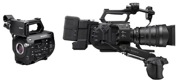 Le Sony FS 7, caméra 4K haute vitesse modulaire, avec bras téléscopique.