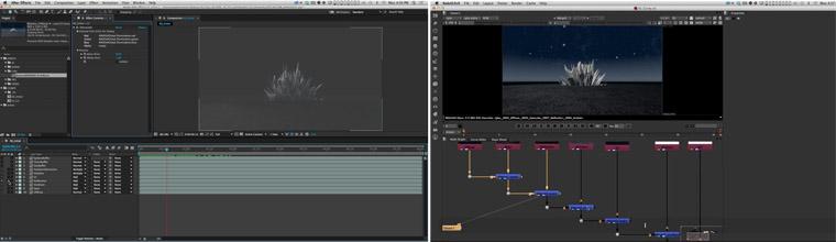 Le site schoolofmotion propose une vidéo comparant After Effects et Nuke, comme outils de compositing 2D/3D.