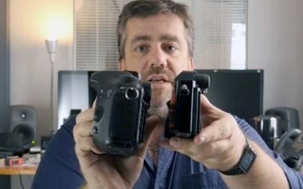 Emmanuel Pampuri compare un Canon 7D (capteur APS) et le Sony A7s (capteur full frame 24x36)... nettement plus compact !