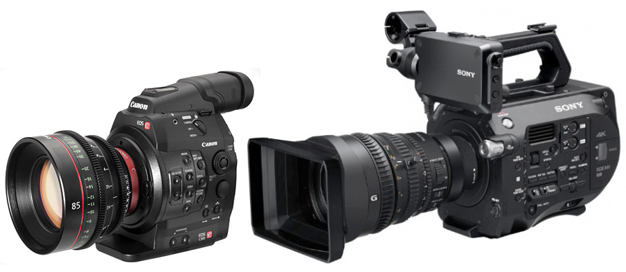 canon-c300-sony-fs7-optiques