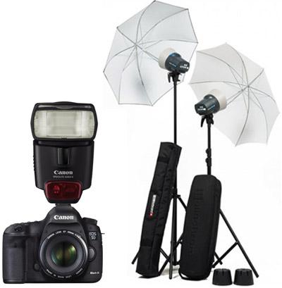 Reflex 5D et 70D, flash cobra, et kit lumière pro de base...