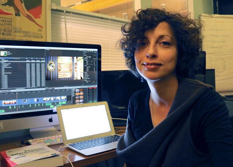 Nathalie Sanchez, conseillère technique sur Fou d'Amour et assistante monteuse, qui a géré toute la postproduction du film.