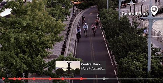 Intégration de vidéos, avec annotations, marqueurs, liens...