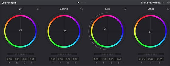 Color wheel davinci resolve
