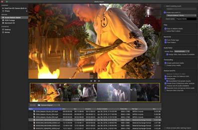 Final Cut Pro X propose une unique fenêtre d'import des média