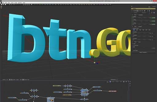 Fusion propose la création de titres en vraie 3D, avec animation dans un espace 3D complet.
