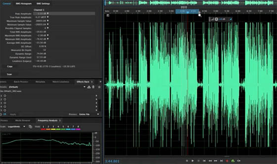 Premiere Pro CC donne accès à l'excellente application audio Audition