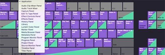 Premiere Pro propose de travailler avec des raccourcis clavier