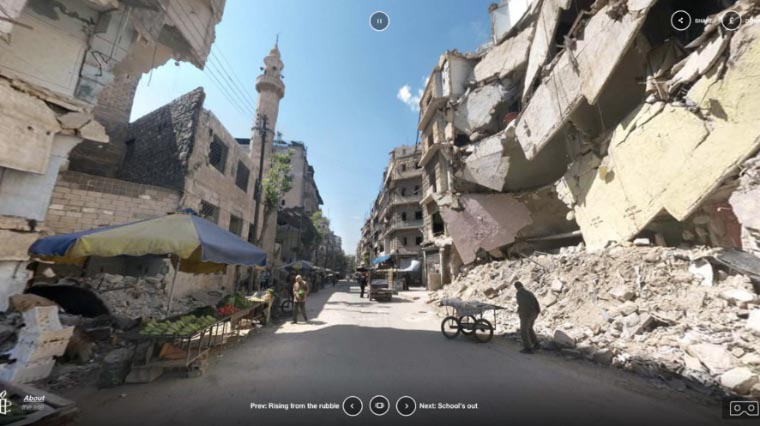L'ONG Amnesty International propose de vivre en immersion VR les conditions de vie des populations civiles en Syrie, en pleine guerre.