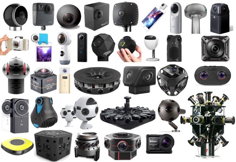 Les caméras VR ou rigs VR disponibles en 2018... de 200 Euros à plus de 250 000... dispo et parfois jamais disponibles...