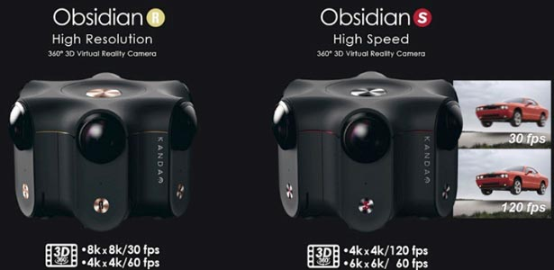 Caméras VR Obsidian R et Obsidian S