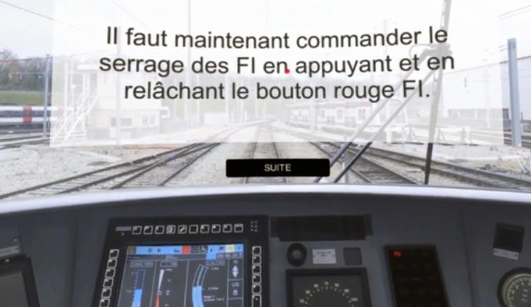 Formation en VR pour la RATP : sécurité freinage, par la société Takoma