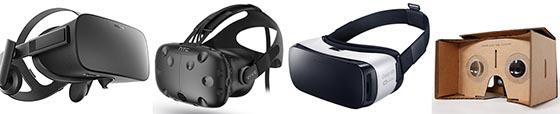 Casques VR : Oculus Rift, HTC Vive, Samsung Gear, Google Cardbox